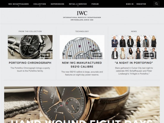 IWC Schaffhausen | Branch of Richemont International SA | Fine Timepieces From Switzerland | Home