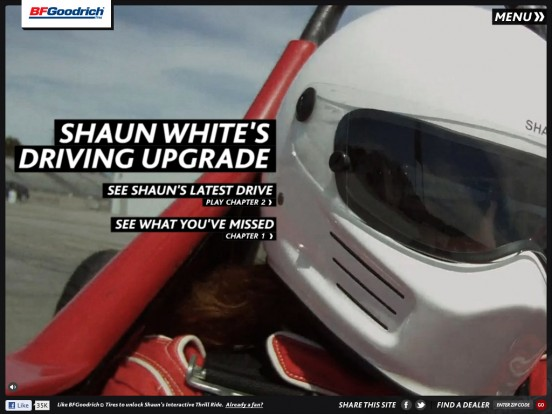 BFGoodrich Tires is helping Shaun White upgrade his driving.
