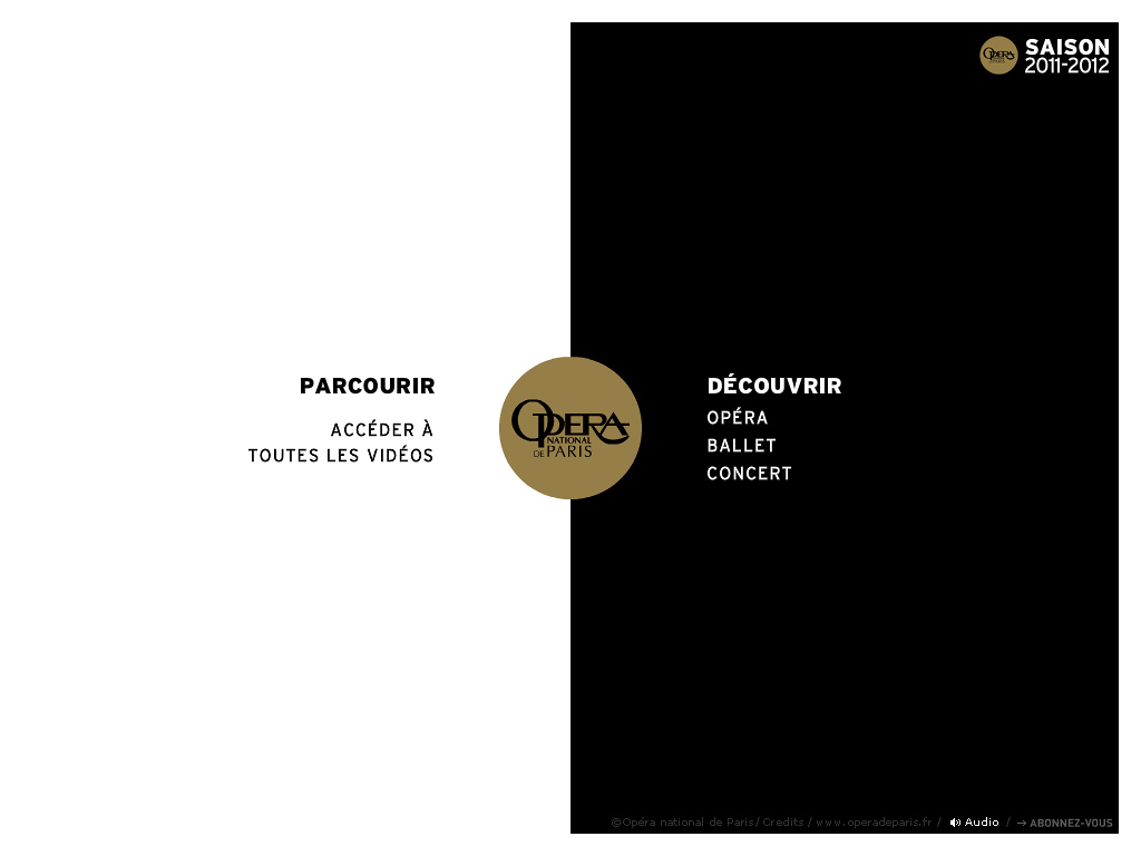Opéra national de Paris | SAISON 2011-2012