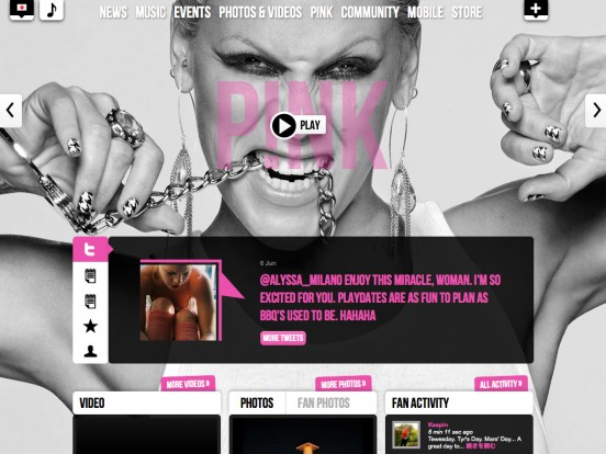 P!nk (JP) | The Official P!nk Site