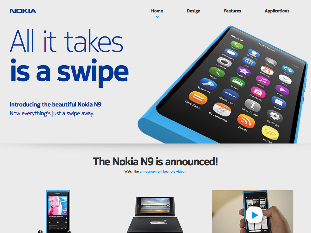 Home | Experience Nokia N9 – All it takes is a swipe