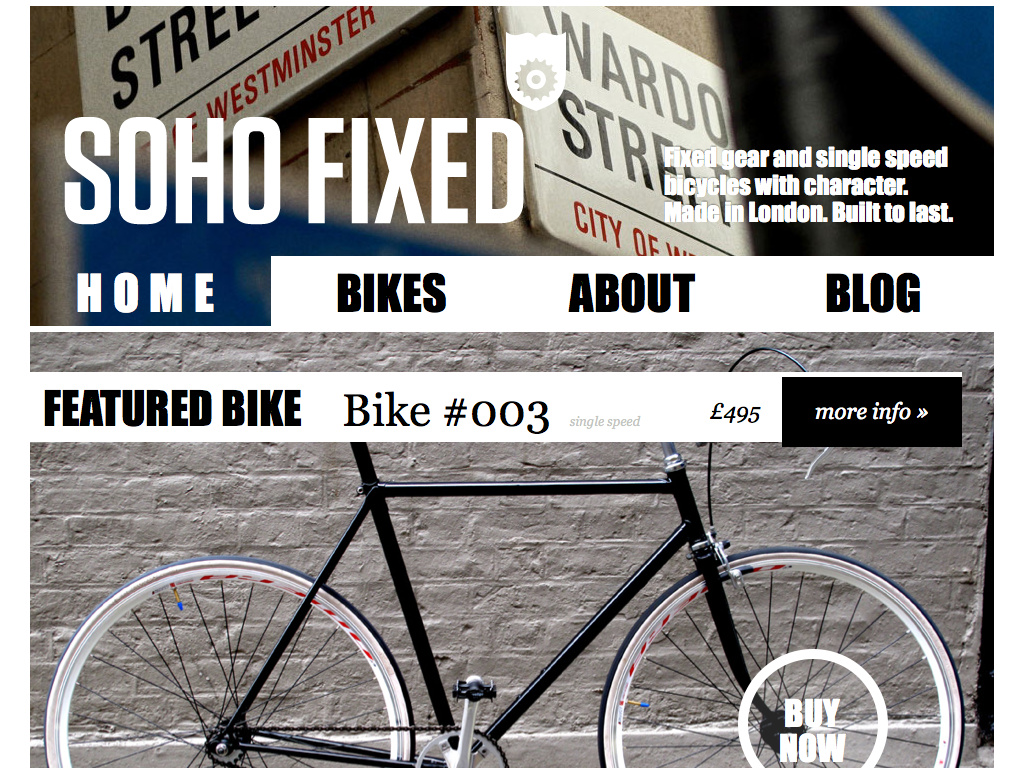 Soho Fixed // Fixed gear and single speed bicycles with character. Made in London.