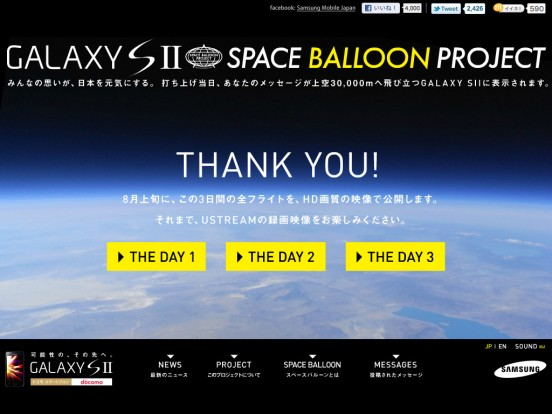 SPACE BALLOON PROJECT | GALAXY SII
