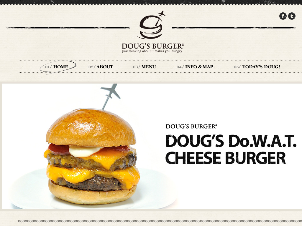 DOUG'S BURGER | Just thinking about it makes you hungry