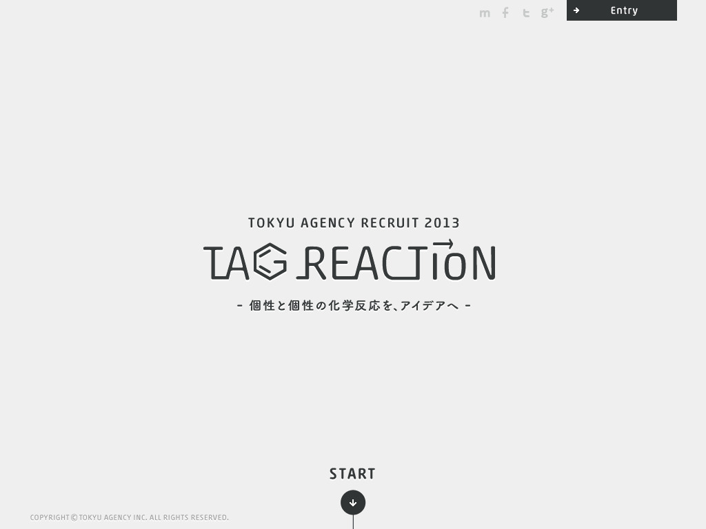 TAG REACTION | RECRUIT 採用サイト | Tokyu Agency Inc.