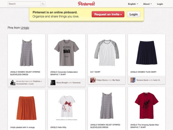 Uniqlo / Pinterest