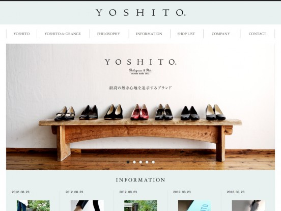 YOSHITO(ヨシト) | OFFICIAL BRAND SITE