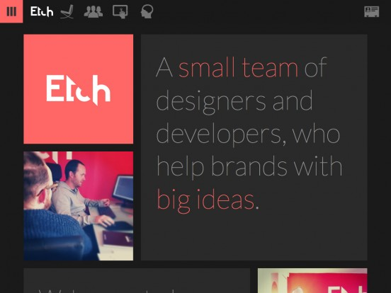 We make apps | Etch
