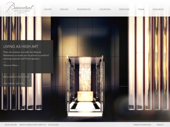 Baccarat Residences | Home