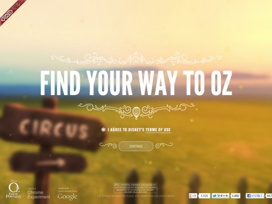 ind Your Way to Oz | Disney's Oz The Great and Powerful | Google Chrome