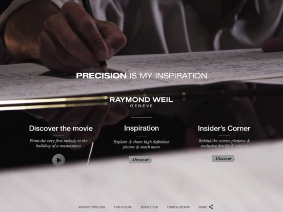 Precision is my Inspiration by RAYMOND WEIL Genève