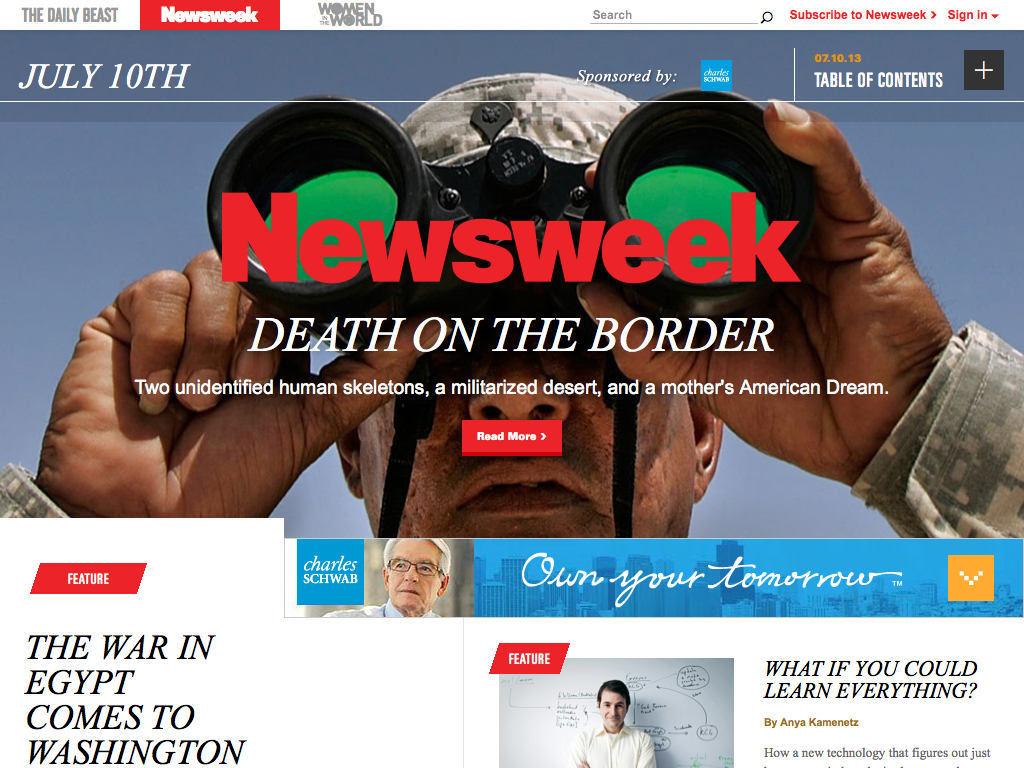 Newsweek – Newsweek and The Daily Beast