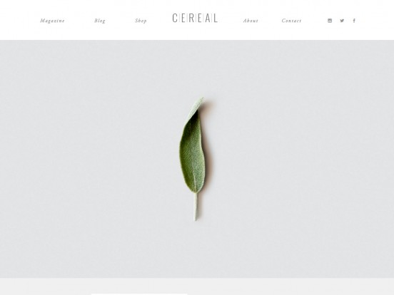 Cereal Magazine / In pursuit of food & travel