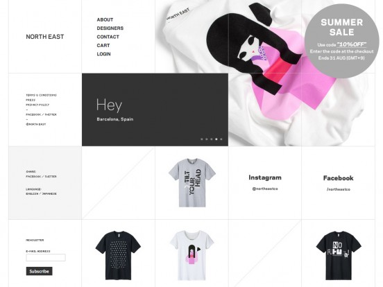 NORTH EAST – Creative graphic design T-shirts shop