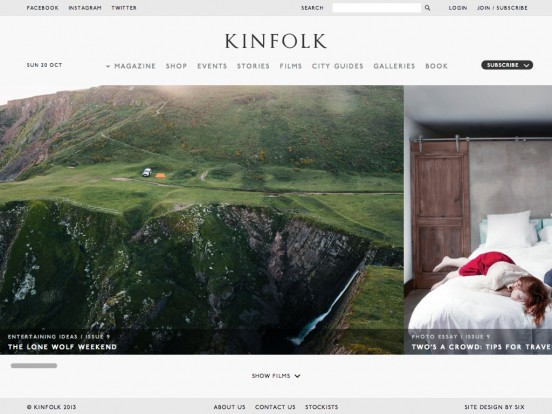 Kinfolk Magazine | Discovering new things to cook, make and do: Entertaining ideas, Recipes, Camping, Road Trips, City Guides, Dinners and more