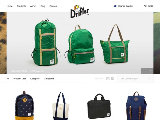 Drifter Bags – Backpacks, Bags, wallets & Totes – Made in the USA