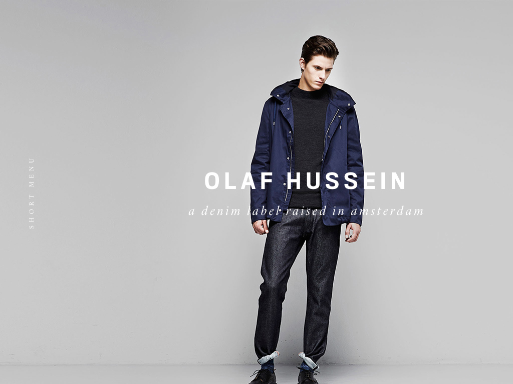 OLAF HUSSEIN, a denim label raised in amsterdam