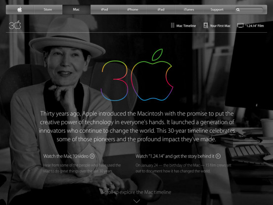 Apple – Thirty Years of Mac