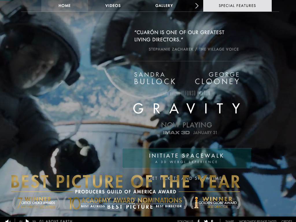 GRAVITY – Now playing