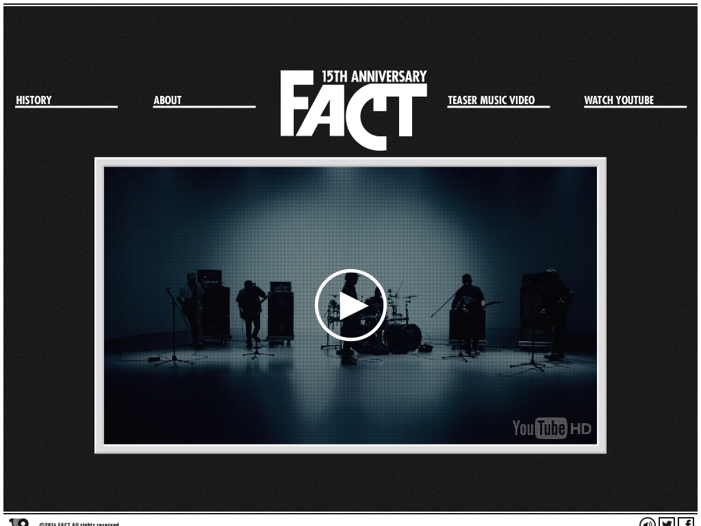 FACT 15TH ANNIVERSARY WEB SITE