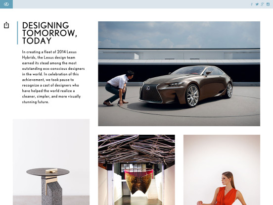 Designing tomorrow, today | Lexus