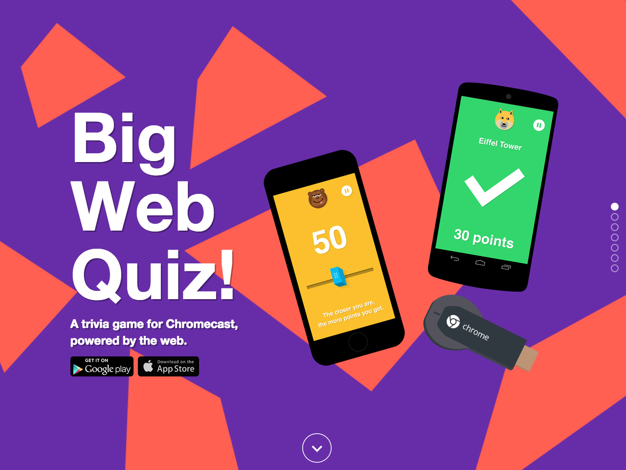 Big Web Quiz for Chromecast