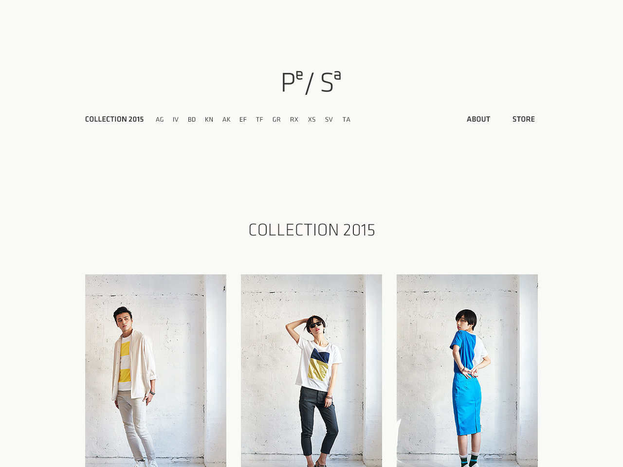 Pe/Sa COLLECTION 2015