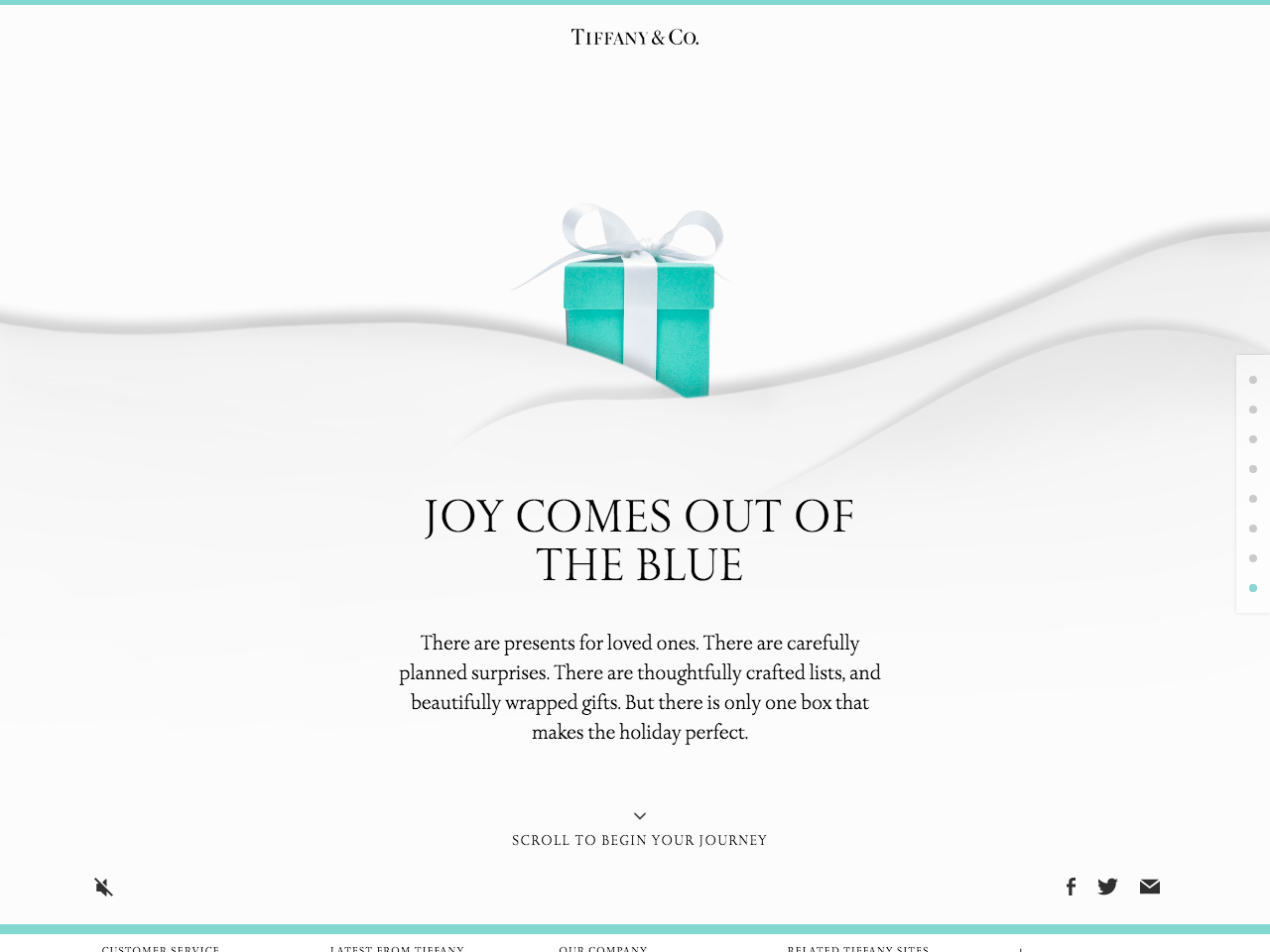 Joy Comes Out of the Blue | Tiffany & Co.