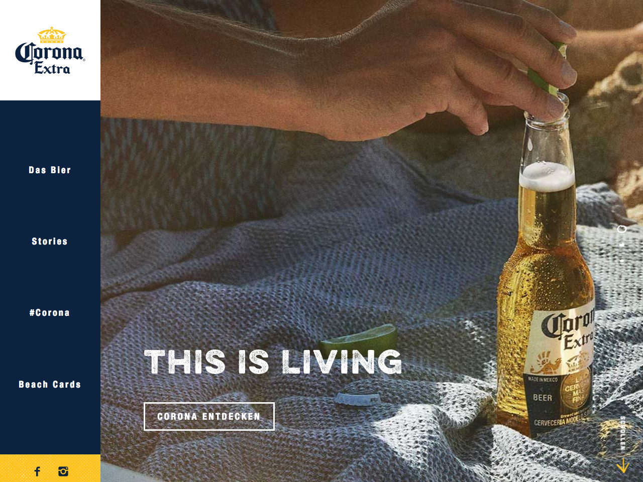 Corona Extra. This is living.