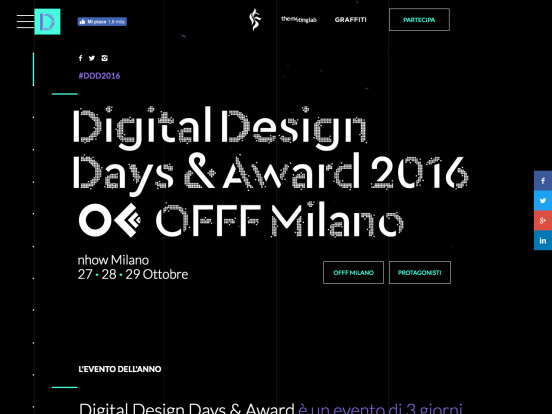 Digital Design Days & Award + Offf Italia Milano 27 28 29 Ottobre 2016