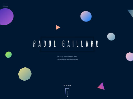 Raoul Gaillard – Front-end developer and Ui designer