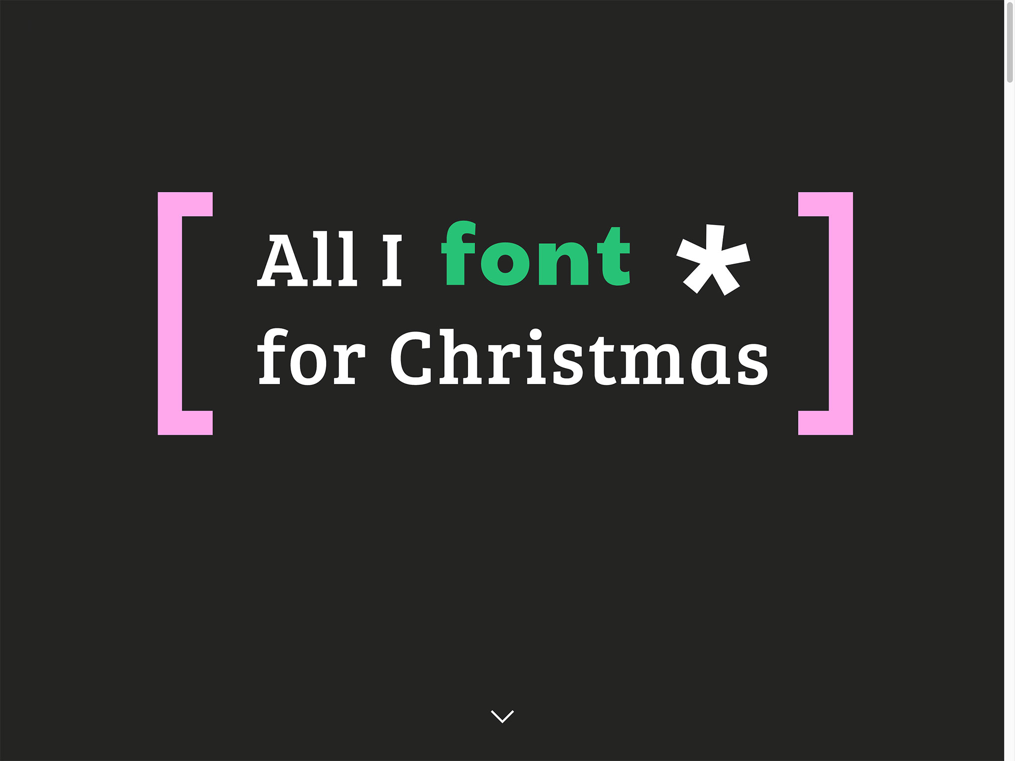 All I Font for Christmas