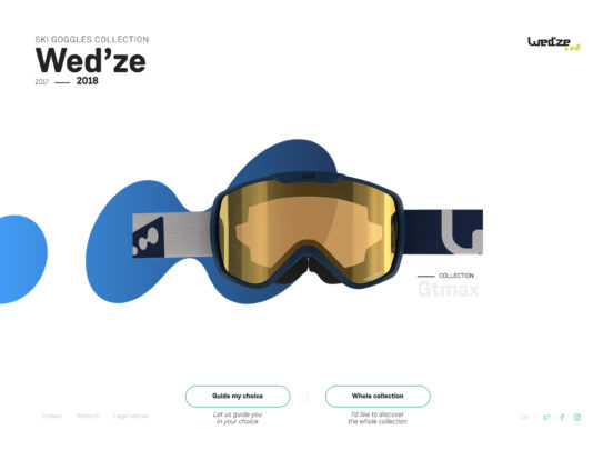 Wed'ze ski goggles collection 2017 – 2018