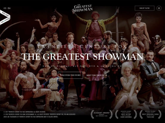 The Greatest Showman (2017) – Movie Website