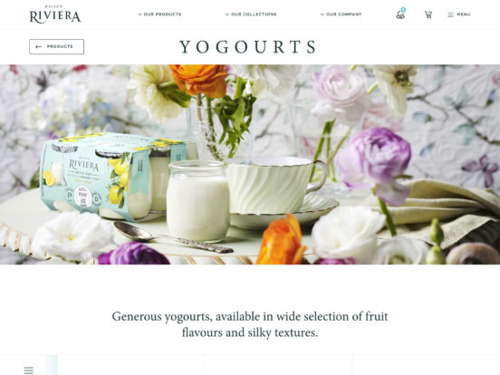 Yogourts – Maison Riviera – Yogurts, Cheese, Butter and Sour Cream