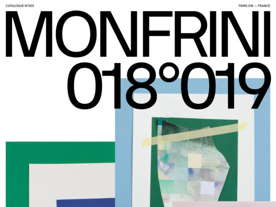 Florian Monfrini — Catalogue 018°019