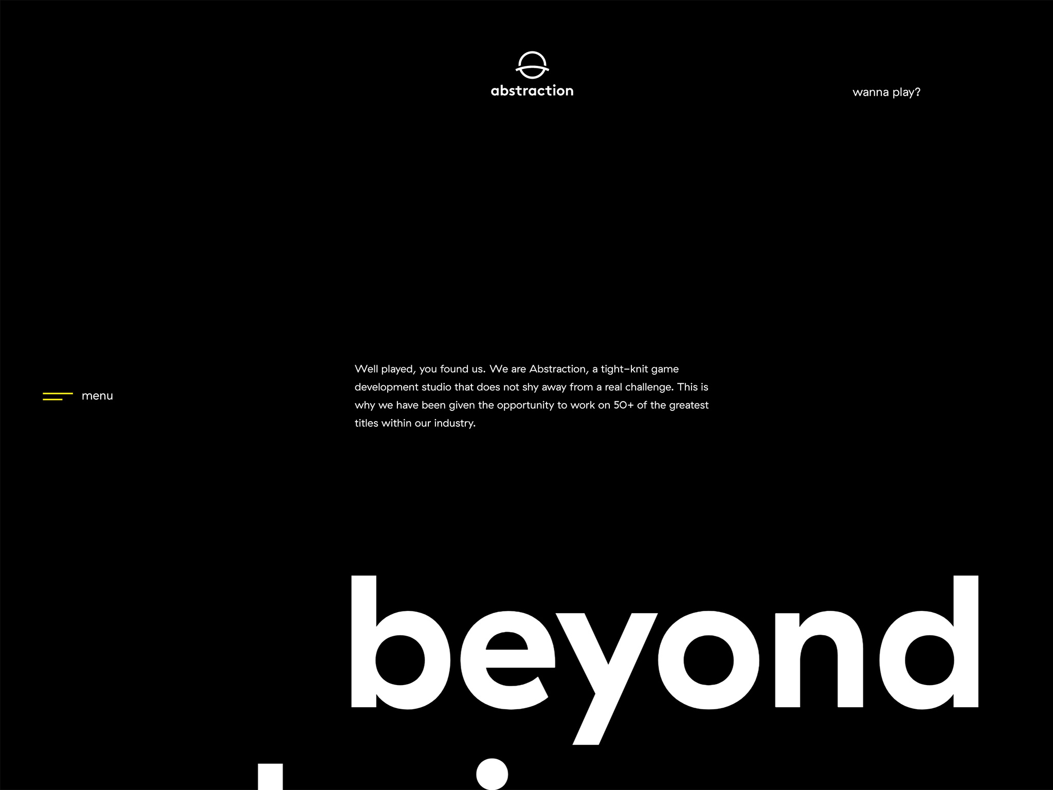 abstraction ·  game development studios · beyond boundaries