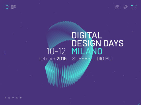 Digital Design Days 10-12 October 2019 Milano, Superstudio Più