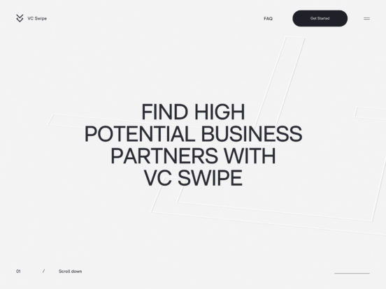 VC Swipe – The future of fundraising