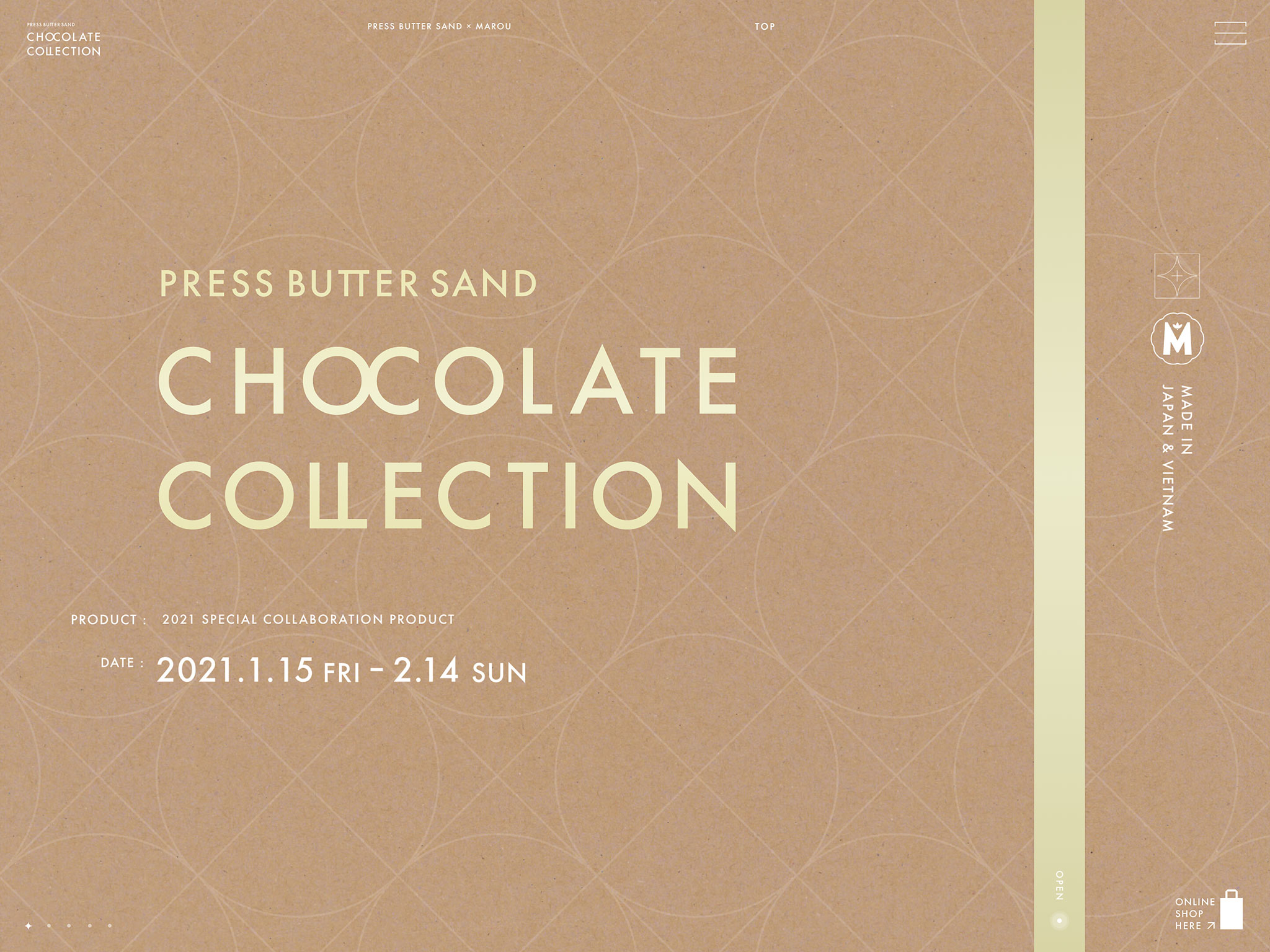 PRESS BUTTER SAND CHOCOLATE COLLECTION | プレスバターサンド チョコレートコレクション