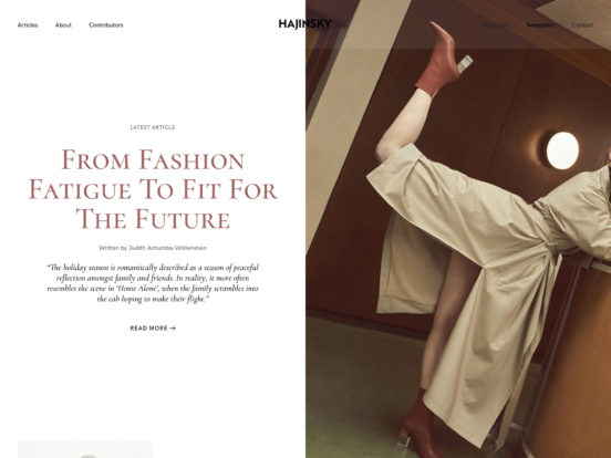 The Fashion Psychology Magazine — HAJINSKY Magazine