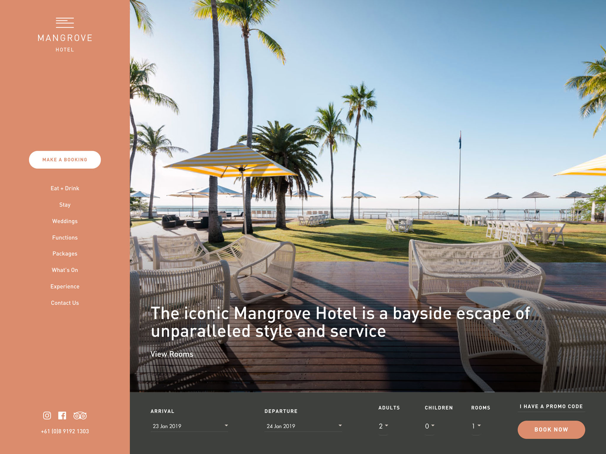Mangrove Hotel – this iconic Hotel in Broome WA is a bayside escape of unparalleled style and service